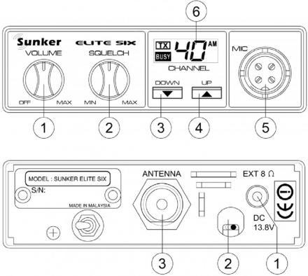 Radio CB Sunker Elite Six